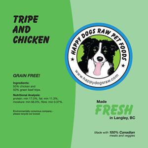 Happy Dogs Tripe with Chicken - 50/50.