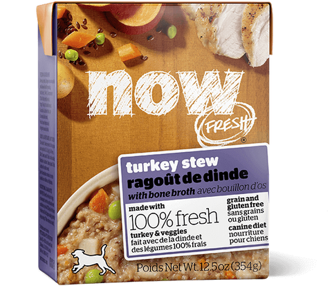 Now Fresh Grain Free Turkey Stew with Bone Broth 12 x 12.5oz Tetra Pak cartons