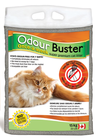 Odour Buster Organic Litter  15 Kg (please purchase two bags or another product)