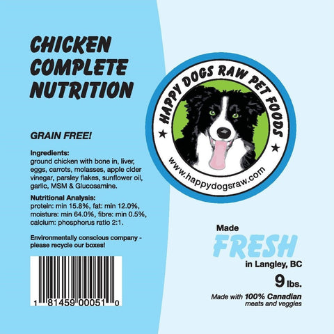 Happy Dogs Chicken Complete Nutrition Blend - Naturally Urban Pet Food Delivery
