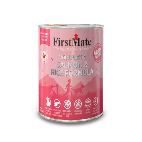 FirstMate Wild Pacific Salmon & Rice Formula for Dogs - 12 x 12.5 ounces