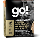 GO! SENSITIVITIES Duck Pate 12/12.5OZ - Naturally Urban Pet Food Delivery