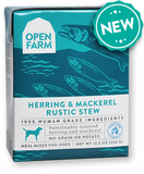 Open Farm Harvest Herring & Mackrel Rustic Stew for Dogs 12 x 12.5 oz Tetra Packs