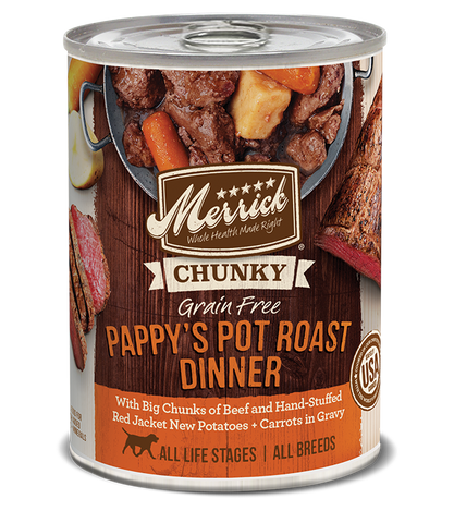 Merrick's Pappy Pot Roast Dinner in Gravy 12 x 13 oz cans