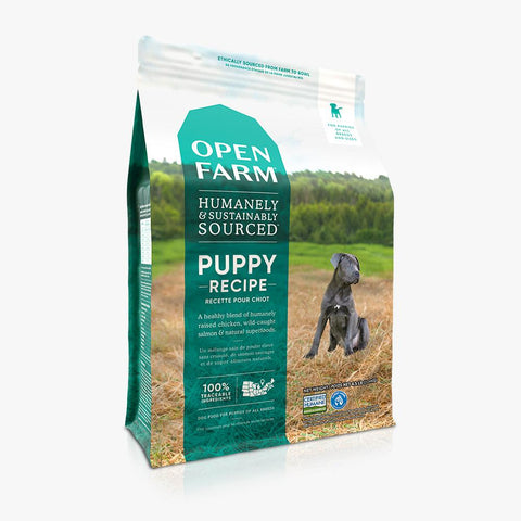 Open Farm  Dry Dog Food designed for Puppies Recipe 24lbs