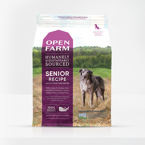 Open Farm  Dry Dog Food designed for Senior Recipe 24lbs