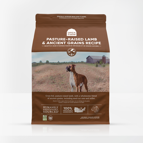 Open Farm Pasture-Raised Lamb & Ancient Grains Dry Dog Food 22 LB