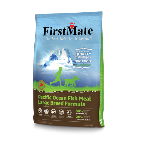 FirstMate's Pacific Ocean Fish formula Large Breed 28 lbs