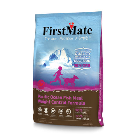 FirstMate's Pacific Ocean Fish formula Senior Weight control 28 lbs