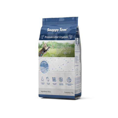 Snappy Tom Crystal Litter - Unscented 4 kg