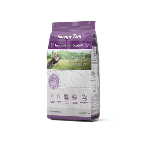 Snappy Tom Crystal Litter - Lavendar 4 kg - Naturally Urban Pet Food Delivery