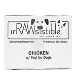 Irawsistible Chicken with Fruits Vegetables and Supplements