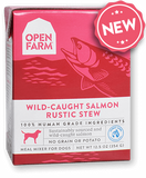 Open Farm Harvest Wild Caught Salmon Rustic Stew for Dogs 12 x 12.5 oz Tetra Packs