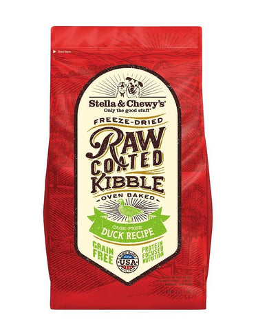 Stella & Chewy's Raw Coated Kibble Cage Free Duck for dogs 22 lbs.