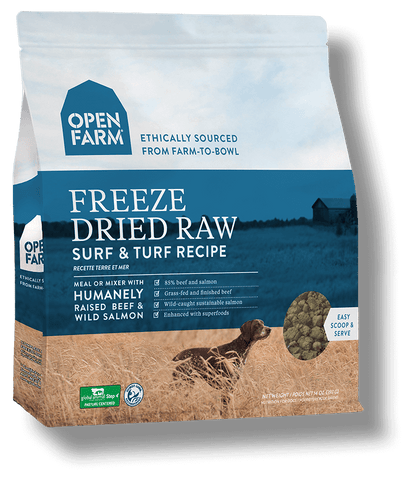 Open Farm Surf and Turf Freeze Dried Raw Dog Food 13.5 oz