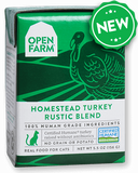 Open Farm Homestead Turkey Rustic Blend Stew for Cats 12 x 5.5 oz Tetra Packs