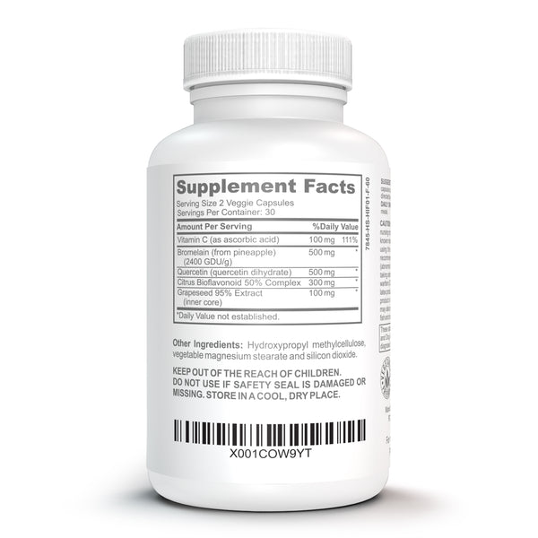 Bromelain & Quercetin Supplement - Bruizex