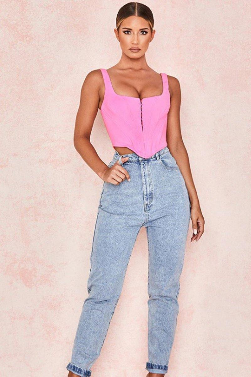 Pinky Breasted Crop Top