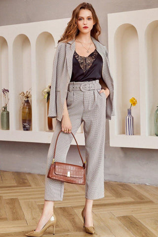 Mackenzie Leather Coat + Pants Set