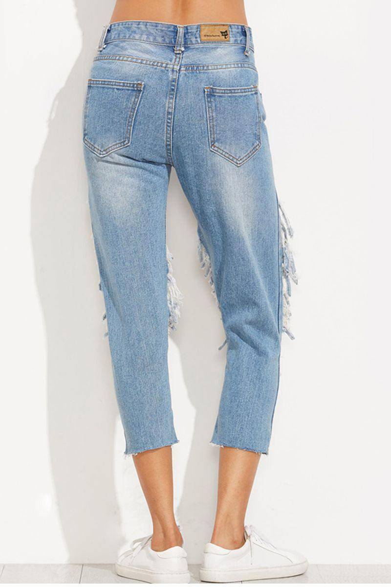 Extreme Distressed Skinny Jeans