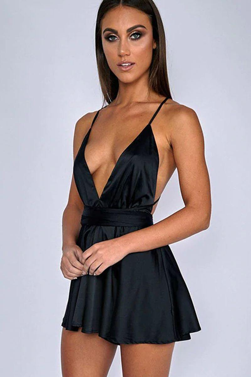 Satin Pleated Dress