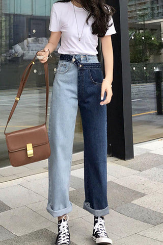 LFJ2 High Waisted Boyfriend Jeans