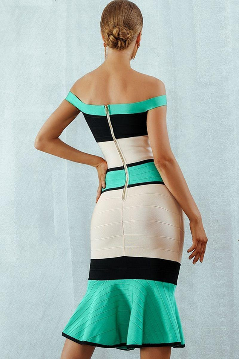 Colorblocked Cocktail Dress