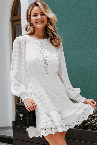 Lace Embroidery Mesh Blouse