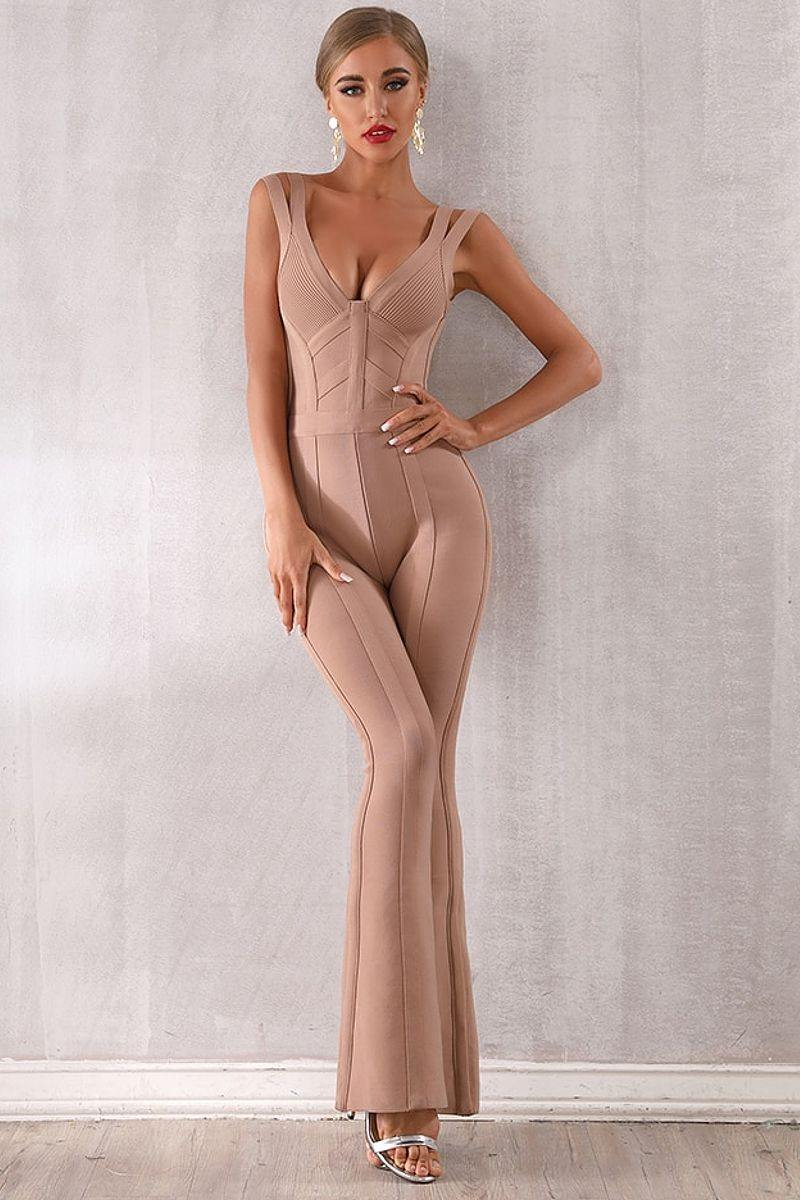Hollow Out Knitted Jumpsuit