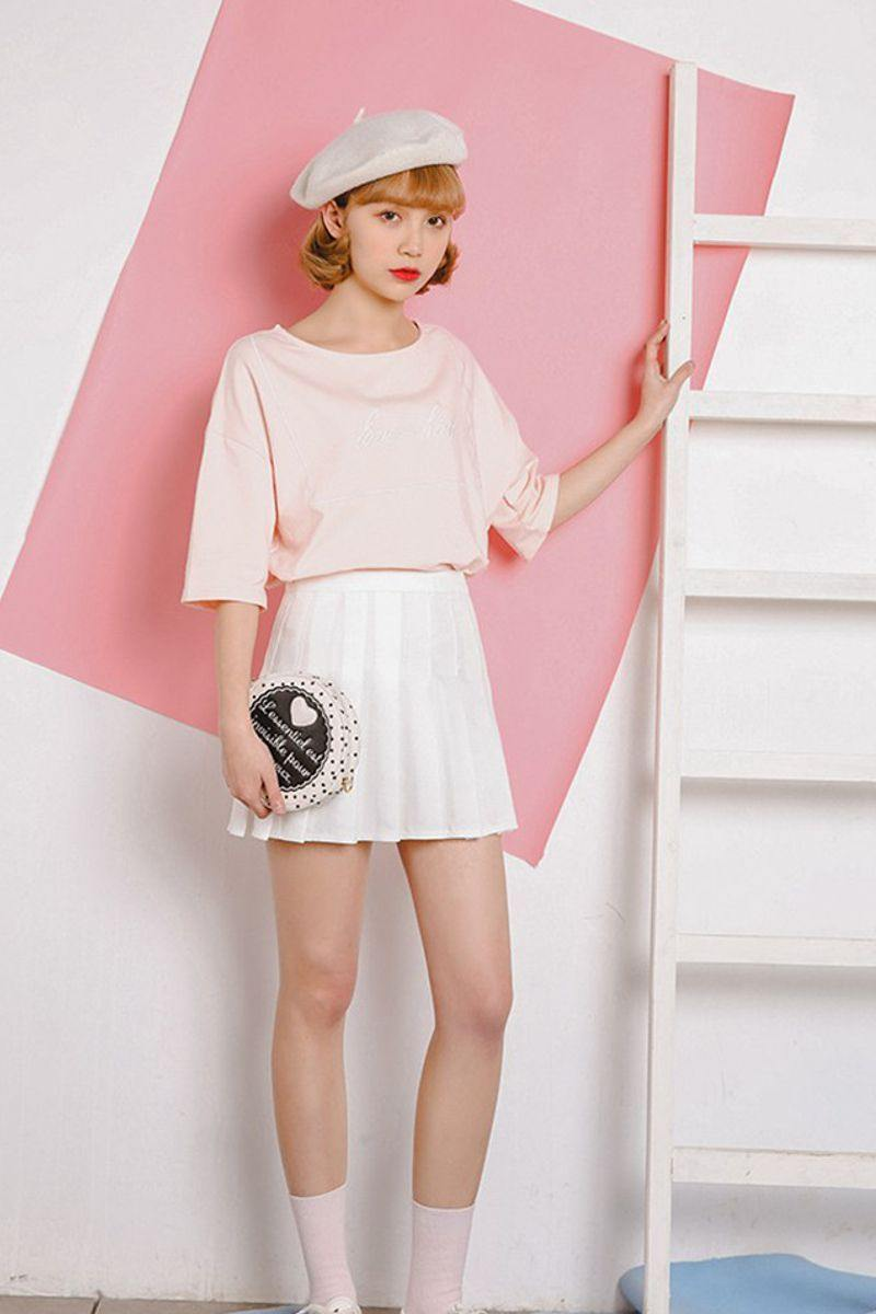 Short Pleated Skirt With Tights Tennis Skirt Style Luv Fashion