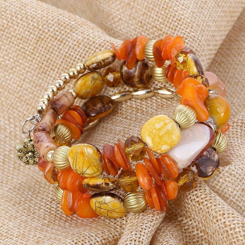 Lovely Charm Beaded Bracelet