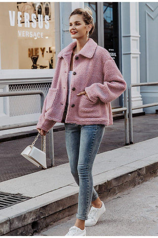 White Faux Fur Turtleneck Sweater