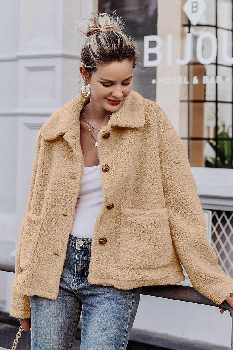 Sophia Thick Faux Fur Jacket