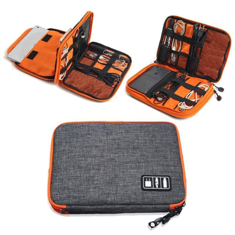 2 Layers Travel Electronic Organizer Bag