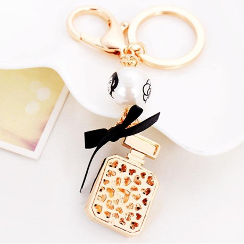 Perfume Bottle Keychain