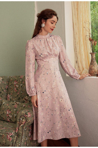 Light Apricot Embroidery Dress