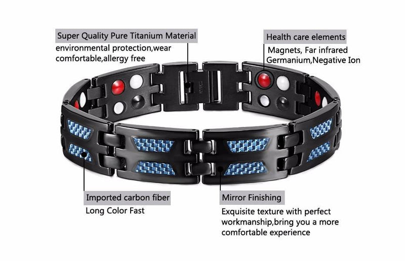 Titanium Magnetic Health Bracelet With Germanium