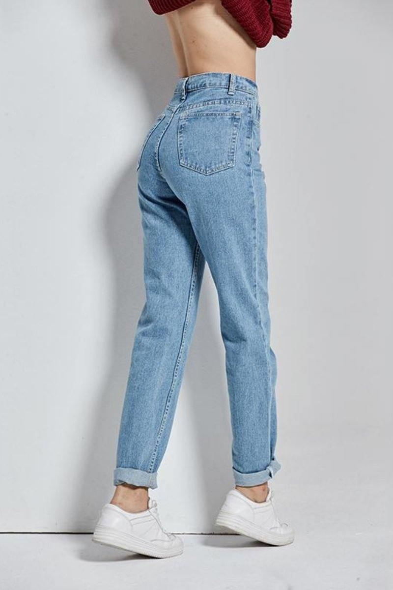 Slim Vintage High Waist Pencil Jeans side view