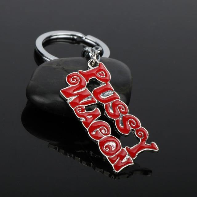 "Quality Alloy ""PUSSY WAGON"" Keychain Gift For Boyfriend"