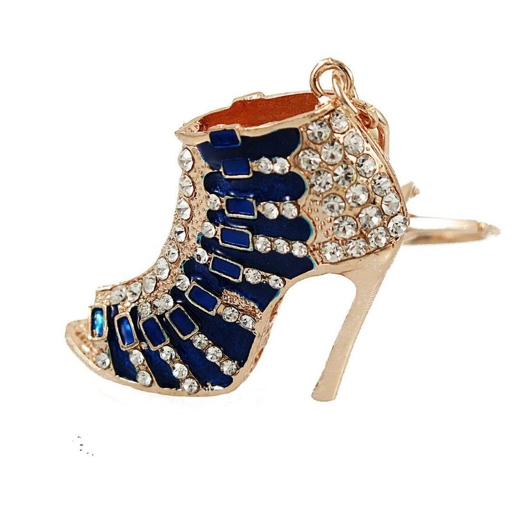 Blue High Heel Keychain