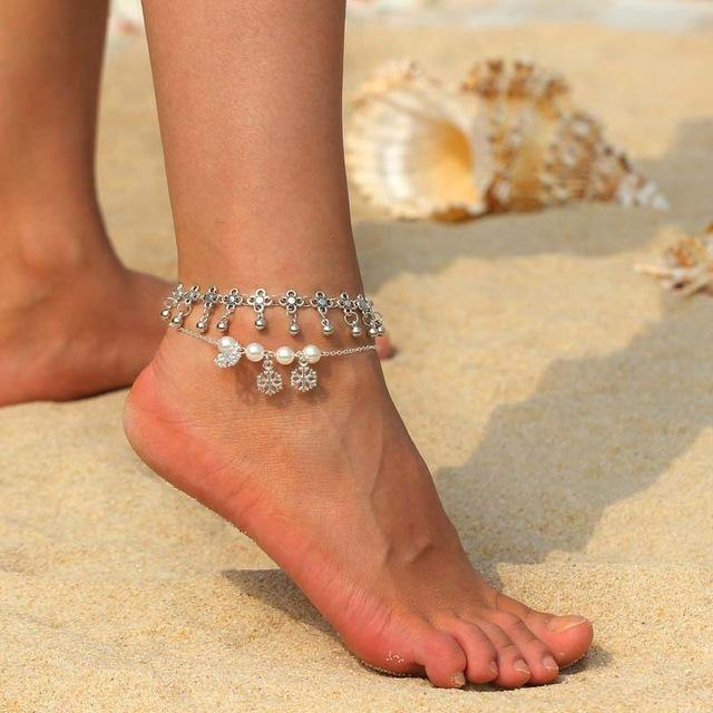 Multi Layer Pendant Anklet