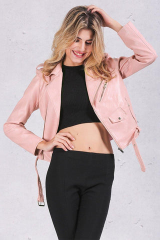 Pink Thick Faux Fur Coat
