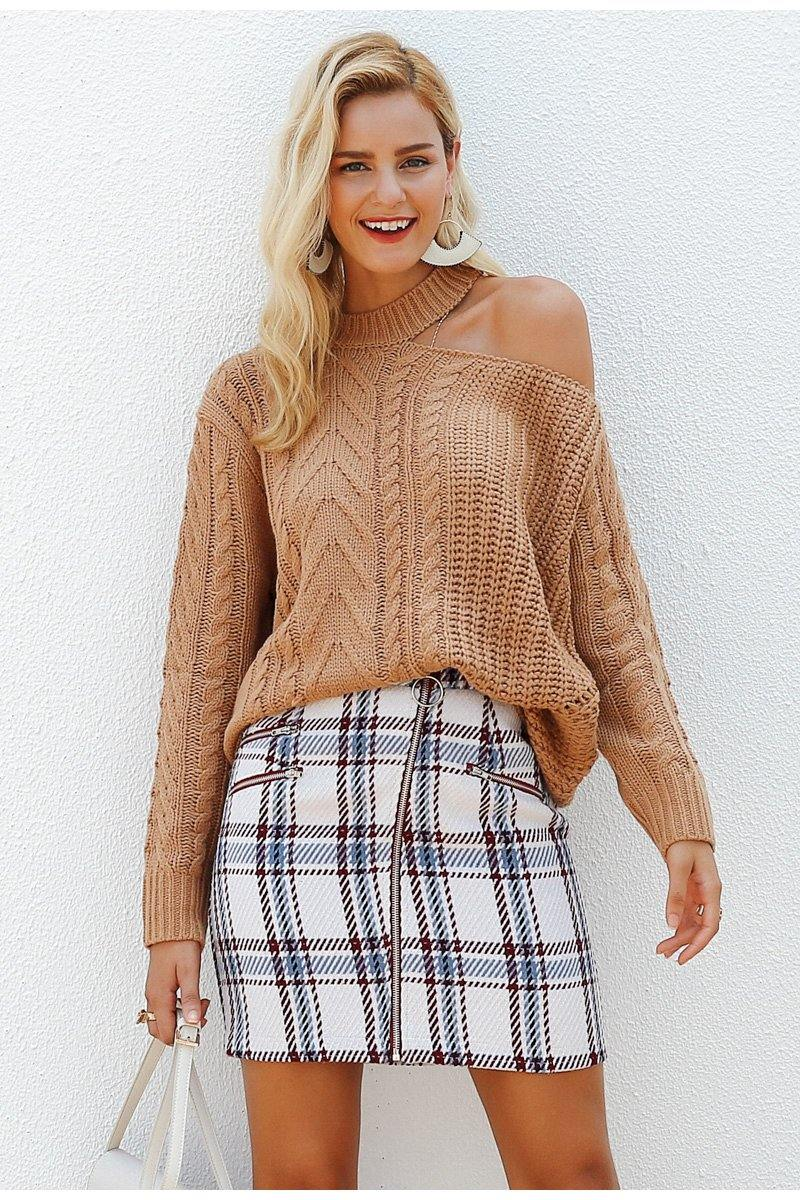 Multi Plaid Mini Skirt