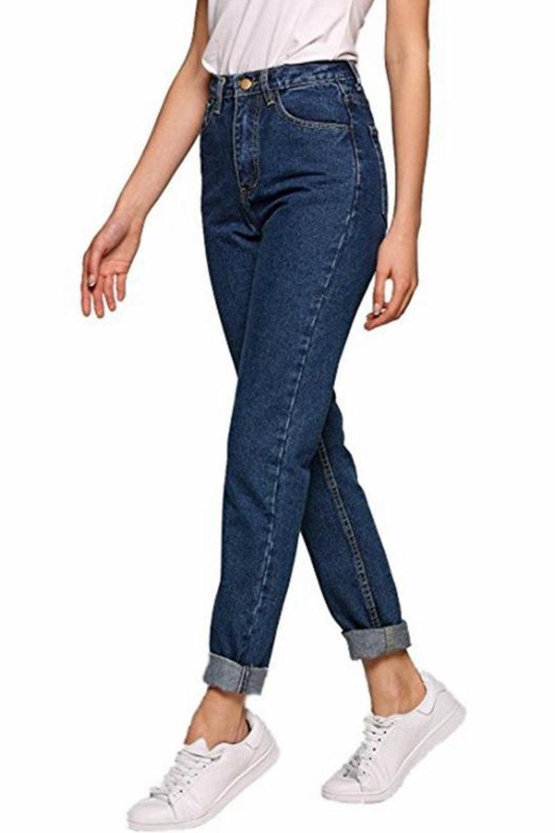 High Waisted Boyfriend Jeans Vintage Denim