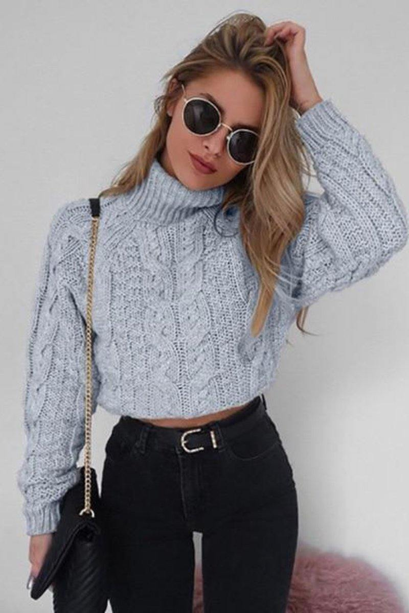 Retro Twisted Turtleneck Sweater