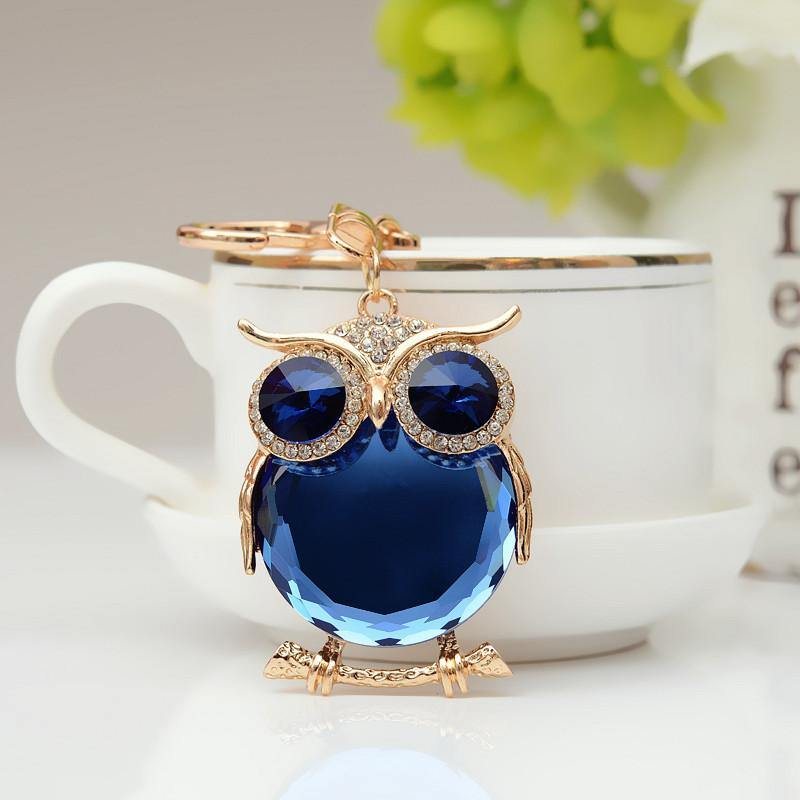 Cute Owl Crystal Rhinestone Keychain - Luv Fashion
