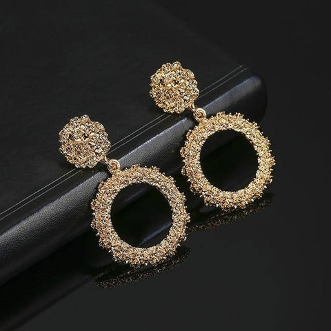 Crystal Star 4 Layer Chain Drop Earrings