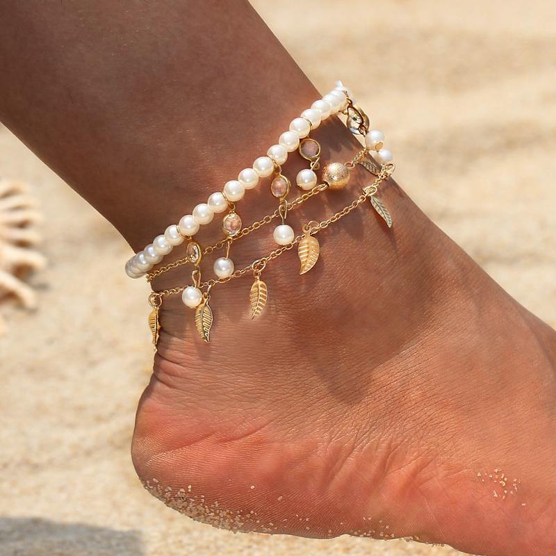 Vintage Simulated Pearl Anklet
