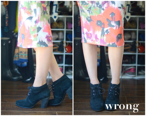 how to wear ankle boots midi wrong