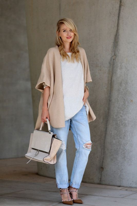 Oversized cardigan outfits